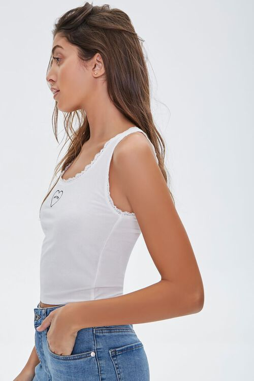 Lace-Trim Not You Tank Top, image 2