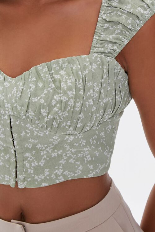 Floral Ruched Crop Top, image 5