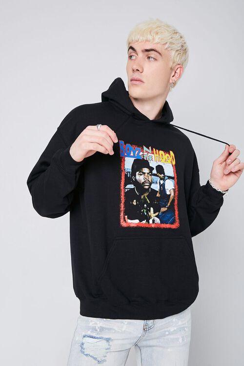 BLACK/MULTI Boys N the Hood Graphic Hoodie, image 1