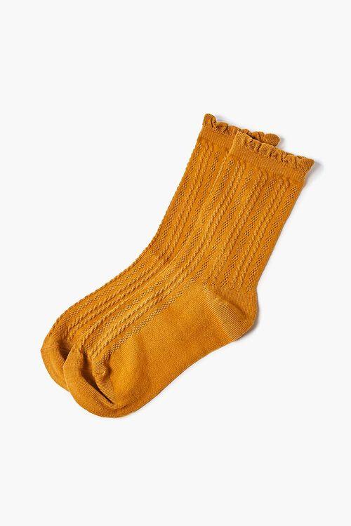 Scalloped Crew Socks, image 2