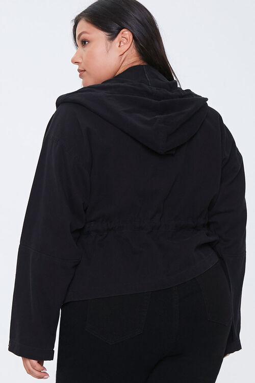 Plus Size Hooded Utility Jacket, image 3