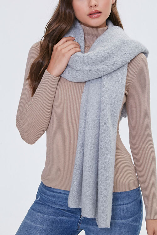 Brushed Knit Oblong Scarf, image 1