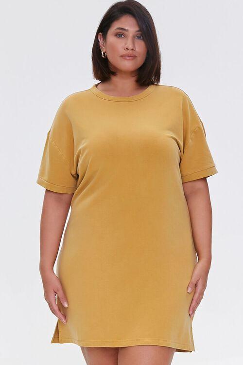 Plus Size Mini T-Shirt Dress, image 1