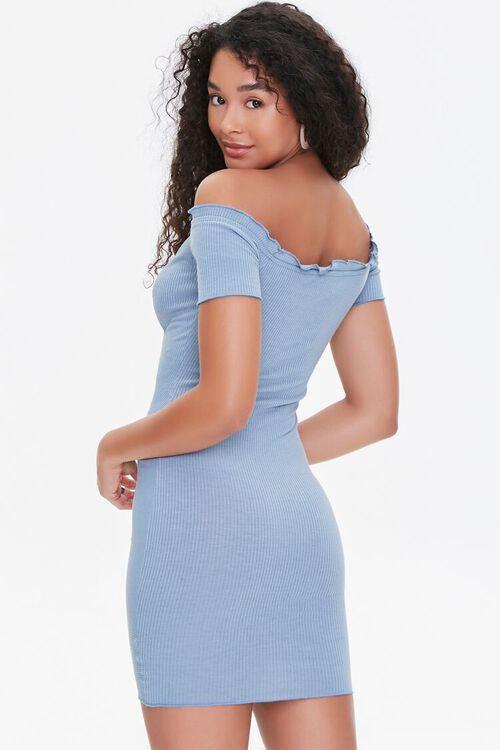 Off-the-Shoulder Ruched Dress, image 3