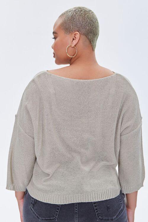 Plus Size Boat Neck Sweater, image 3