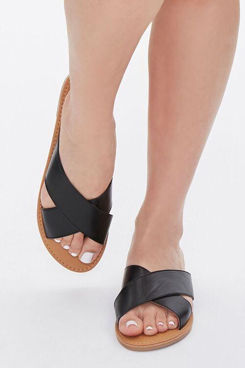 Faux Leather Crisscross Sandals, image 4
