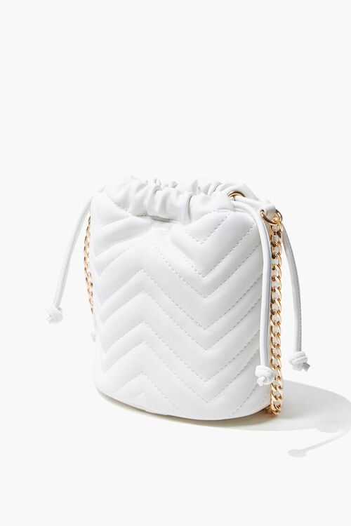 Quilted Crossbody Bucket Bag, image 2