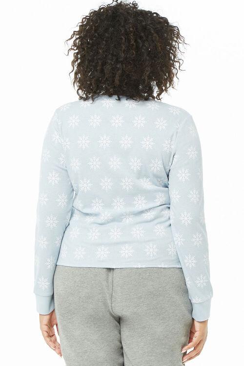 Plus Size Snowflake Print Thermal, image 4