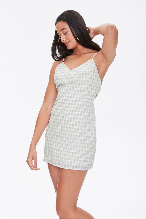 Plaid Mini Cami Dress, image 1