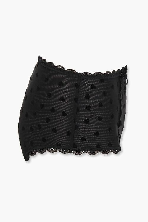 Heart Print Mesh Panties, image 2