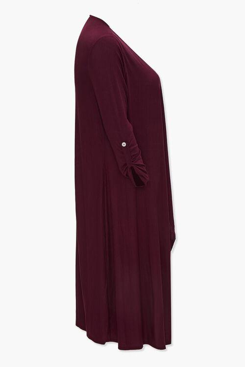 Plus Size Ribbed Duster Cardigan, image 2