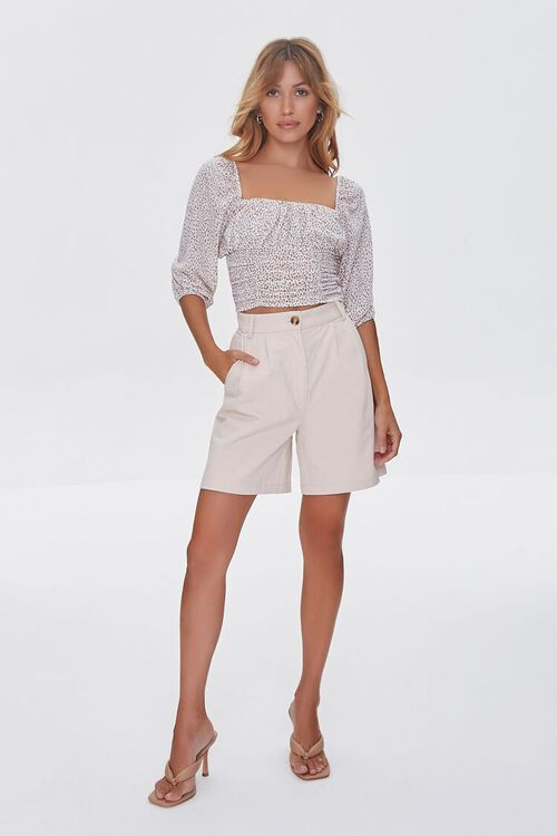 Spotted Print Ruched Top, image 4