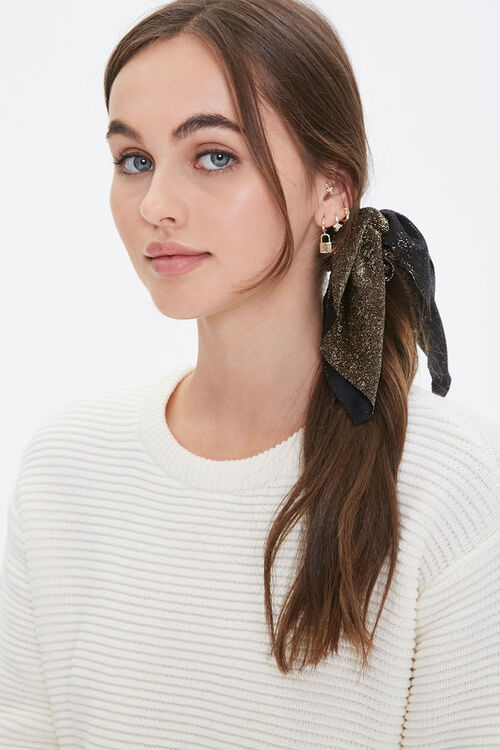 Glitter Bow Hair Scrunchie, image 1
