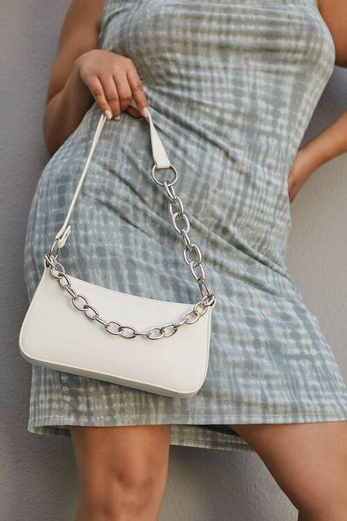 WHITE Faux Leather Shoulder Bag, image 1