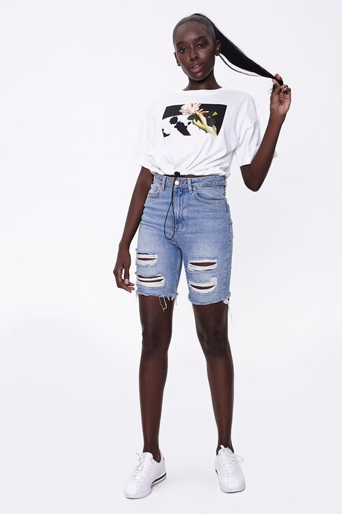 Rose Graphic Toggle Tee, image 4