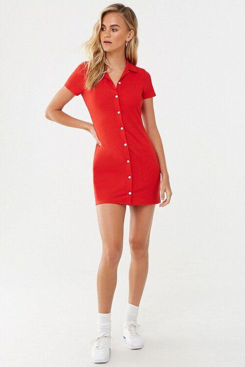 Button-Front Mini Dress, image 4