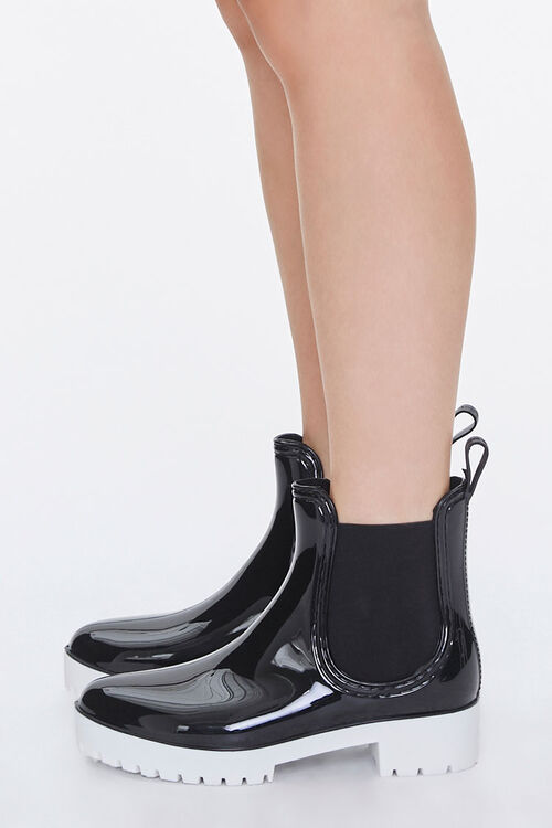 Faux Patent Leather Chelsea Boots, image 2