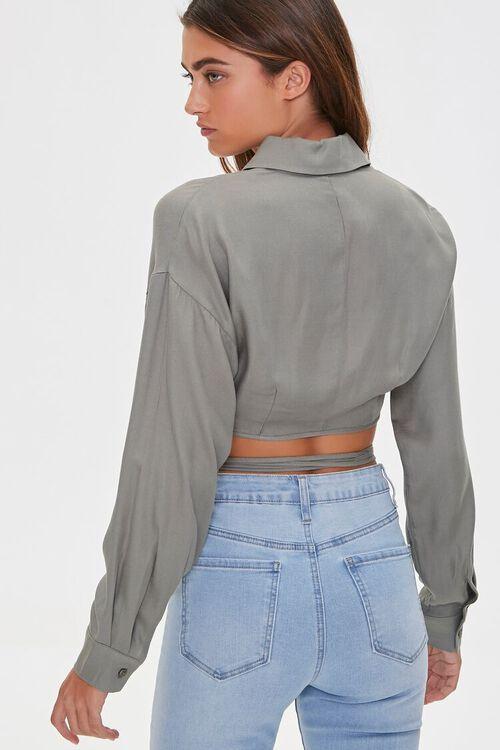Wraparound Cropped Shirt, image 3