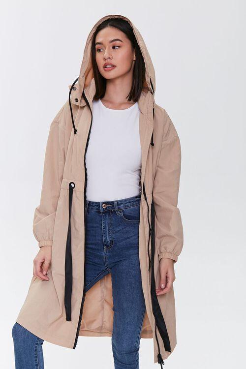 Hooded Longline Jacket, image 1