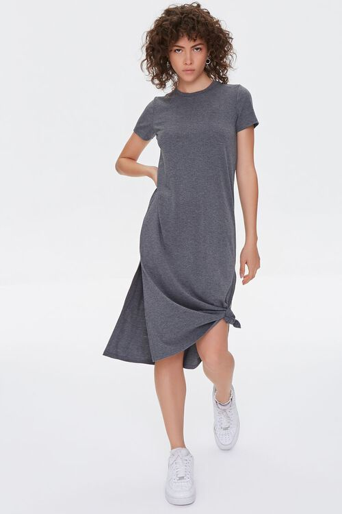 Recycled Leg-Slit T-Shirt Dress, image 4