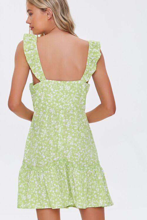 Floral Print Flounce Mini Dress, image 3