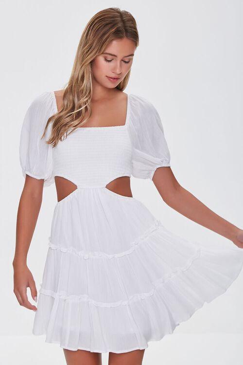 WHITE Cutout Mini Dress, image 1
