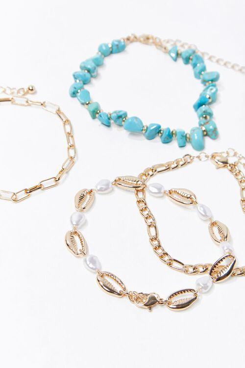 Faux Turquoise Bracelet Set, image 1