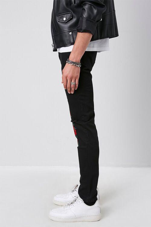 Rose Floral Print Slim-Fit Jeans, image 3