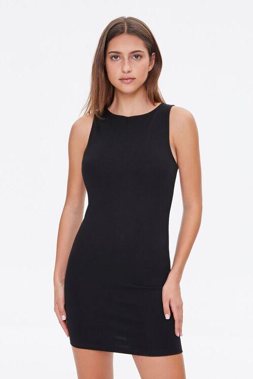 BLACK Bodycon Mini Dress, image 4