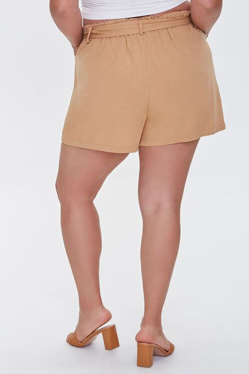 Plus Size Relaxed Tie-Belt Shorts, image 4
