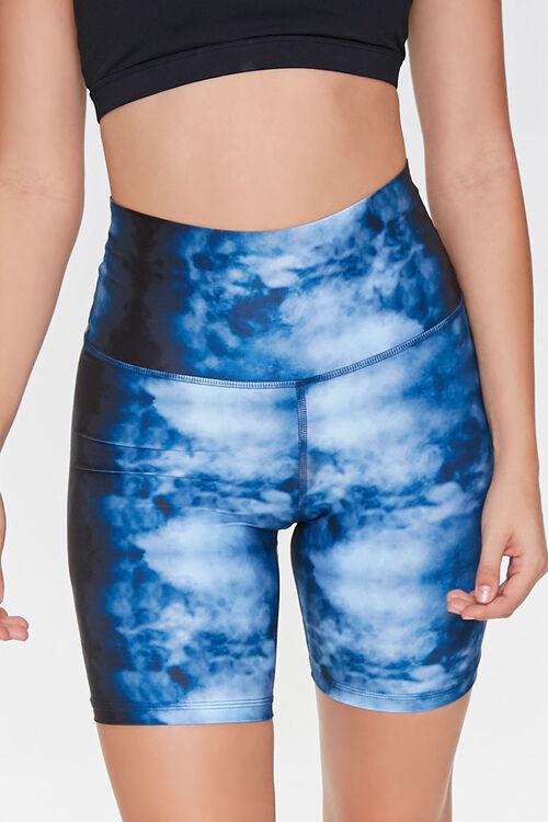 BLUE/MULTI Active Cloud Wash Biker Shorts, image 2