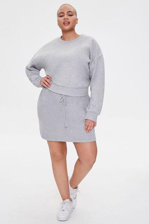 Plus Size French Terry Mini Skirt, image 5