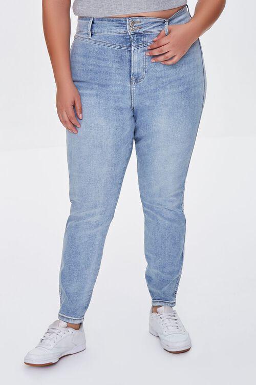 MEDIUM DENIM Plus Size Skinny Uplyfter Jeans, image 2
