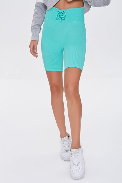 Active Seamless Lace-Up Shorts, image 2