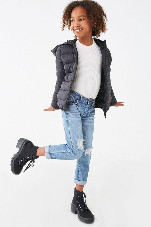 Girls Hooded Puffer Jacket (Kids), image 4
