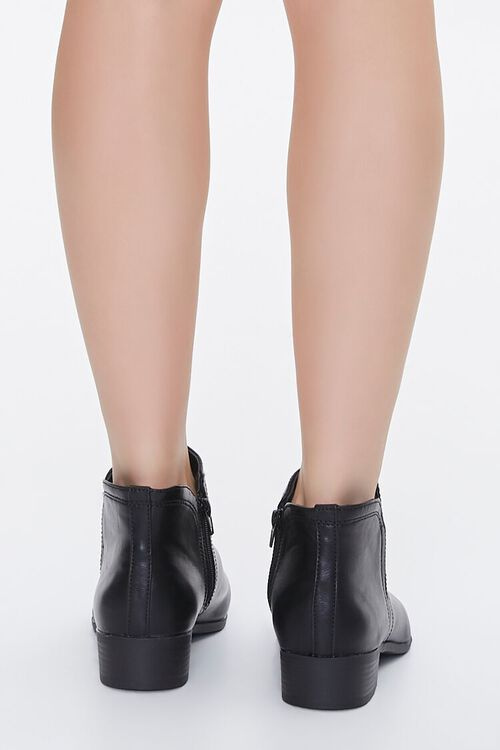 Faux Leather Notched Booties, image 3
