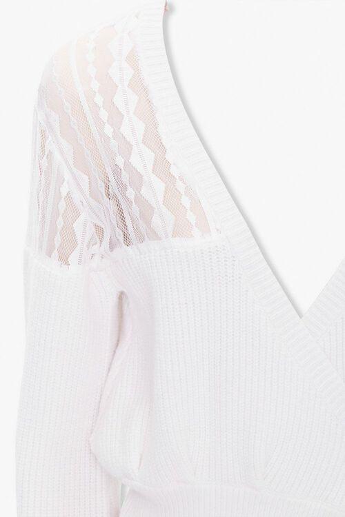 Crochet-Lace Wrap Sweater, image 3