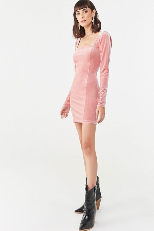 Velvet Mini Dress, image 4