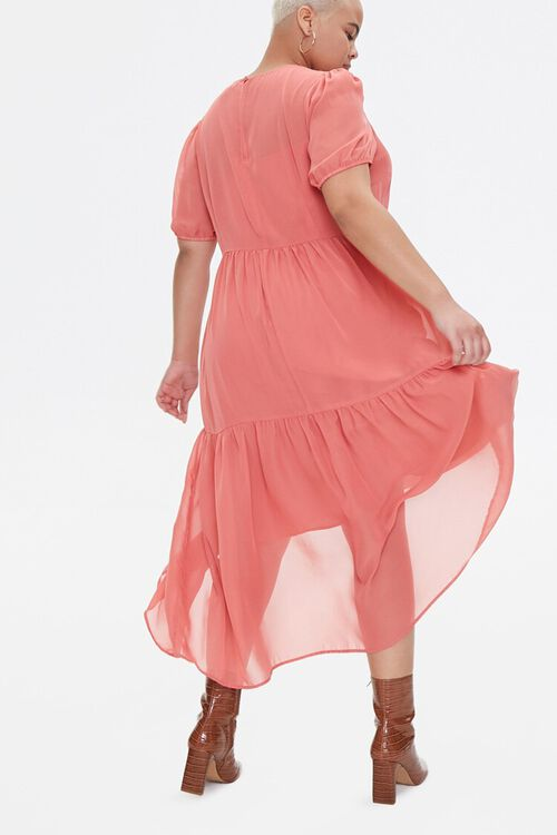 Plus Size Tiered Midi Dress, image 4