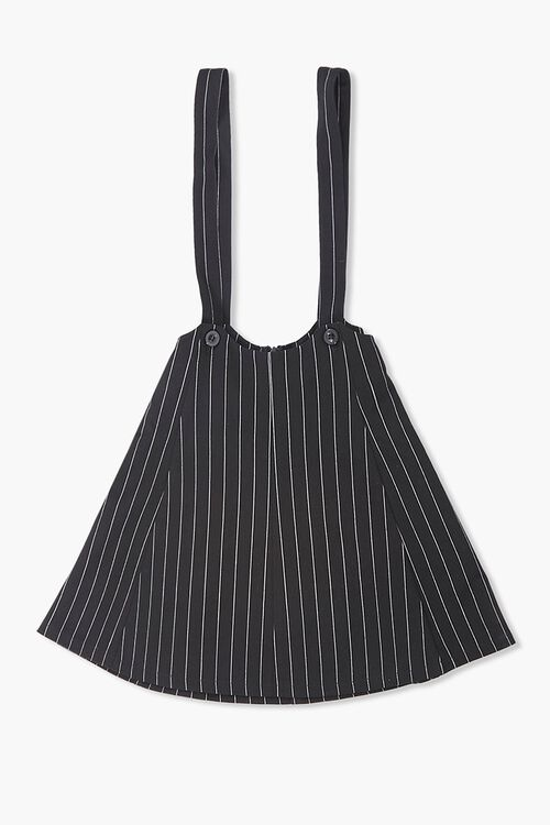 Girls Pinstriped Overall Dress (Kids), image 1