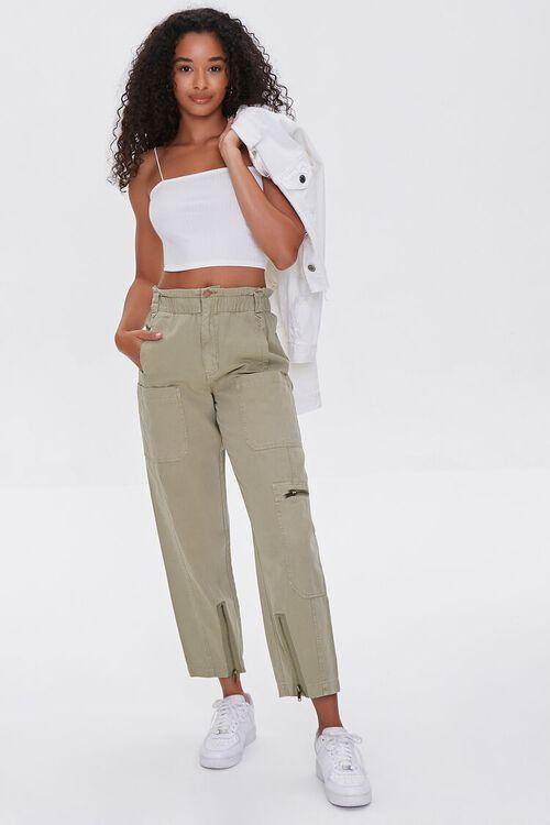 Zip-Pocket Cotton Pants, image 1