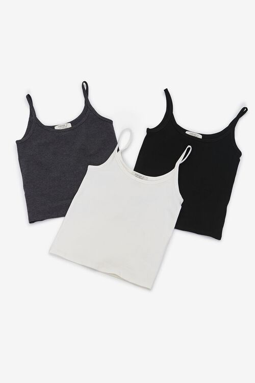 CHARCOAL HEATHER Organically Grown Cotton Scoop Neck Cami, image 1