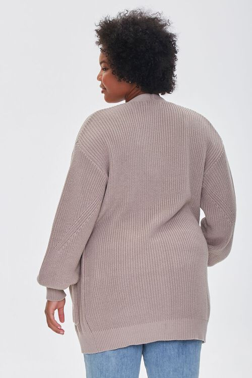 Plus Size Patch-Pocket Cardigan Sweater, image 3