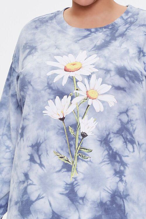Plus Size Floral Graphic Sweatshirt Dress, image 5
