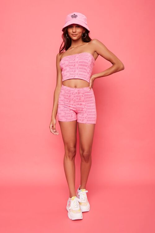 PINK/MULTI Juicy Couture Graphic Tube Top, image 4