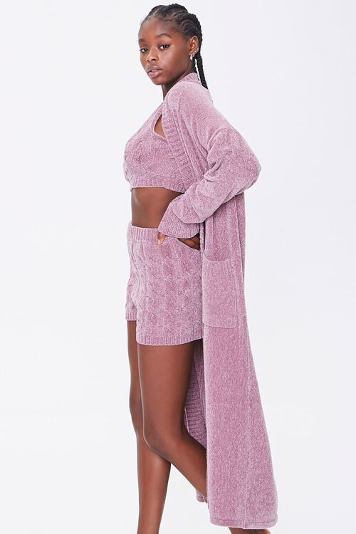 Chenille Longline Cardigan Sweater, image 2