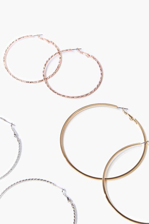 Metallic Hoop Earring Set, image 2