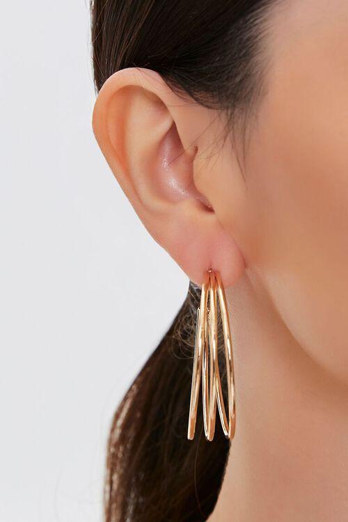 Cutout Hoop Earrings, image 1