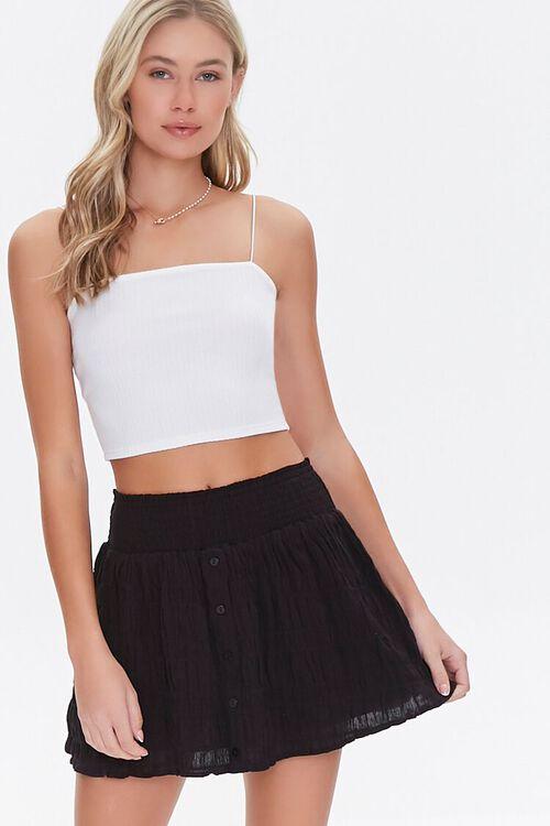 Textured Mini Skirt, image 1