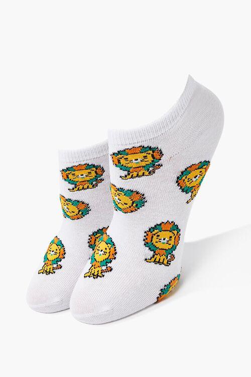 Lion Graphic Ankle Socks, image 1